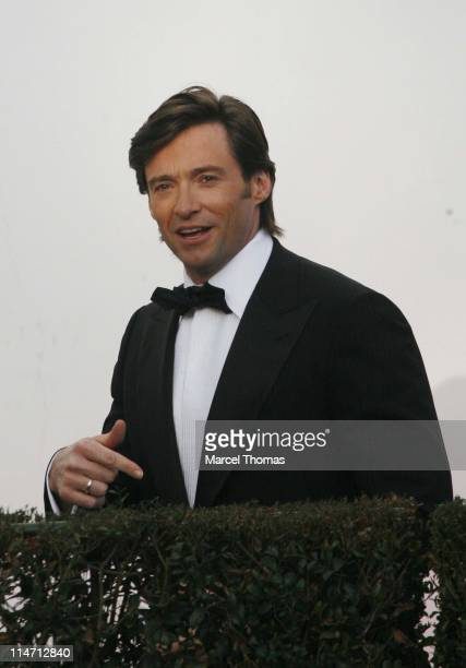 Hugh Jackman during 2007 Vanity Fair Oscar Party Hosted by Graydon Carter Arrivals at Mortons in West Hollywood California United States