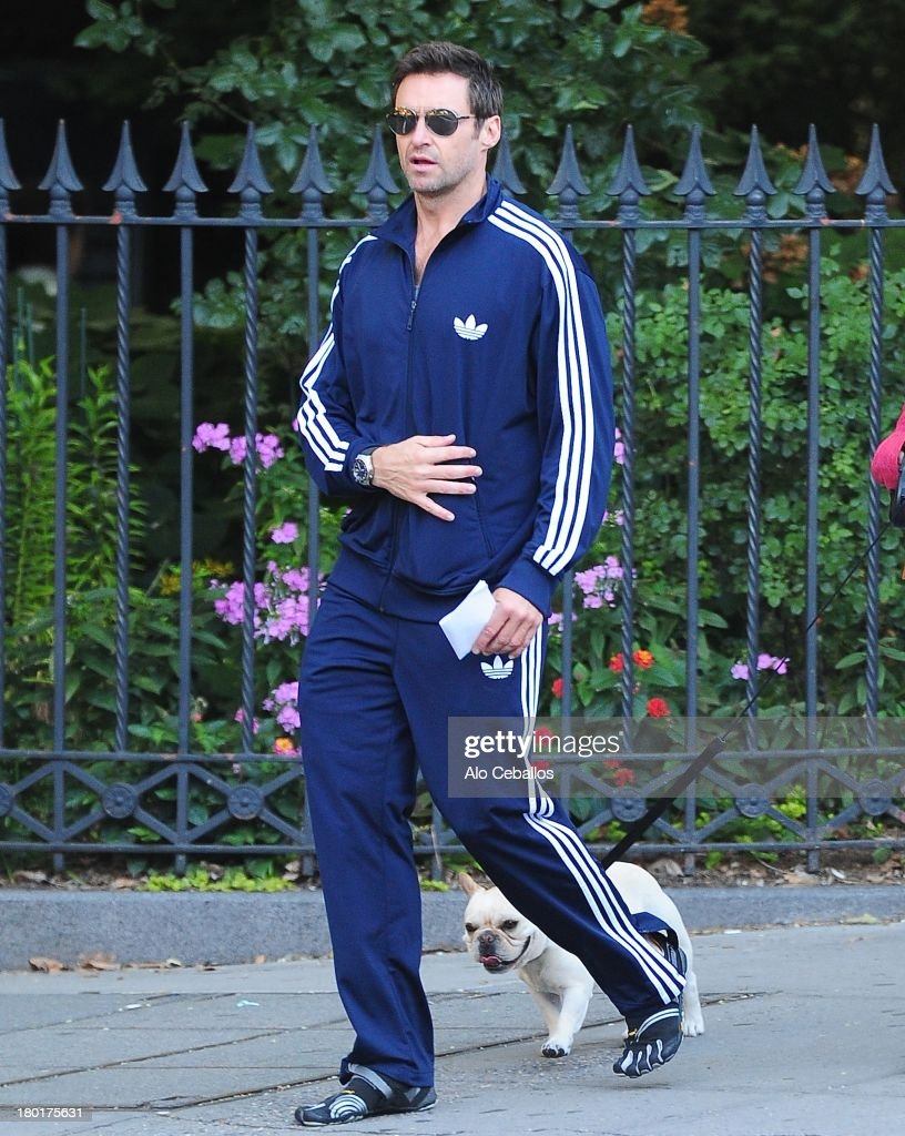<a gi-track='captionPersonalityLinkClicked' href=/galleries/search?phrase=Hugh+Jackman&family=editorial&specificpeople=202499 ng-click='$event.stopPropagation()'>Hugh Jackman</a> is seen in the West Village on September 9, 2013 in New York City.