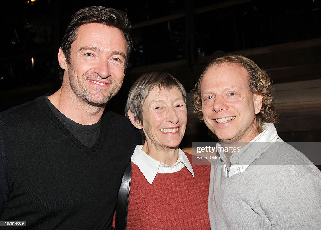 <a gi-track='captionPersonalityLinkClicked' href=/galleries/search?phrase=Hugh+Jackman&family=editorial&specificpeople=202499 ng-click='$event.stopPropagation()'>Hugh Jackman</a>, mother Grace McNeil and producer <a gi-track='captionPersonalityLinkClicked' href=/galleries/search?phrase=Bruce+Cohen&family=editorial&specificpeople=820103 ng-click='$event.stopPropagation()'>Bruce Cohen</a> pose backstage at 'Big Fish' on Broadway at The Neil Simon Theater on November 13, 2013 in New York City.