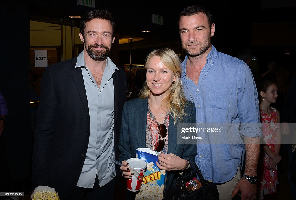 <a gi-track='captionPersonalityLinkClicked' href=/galleries/search?phrase=Hugh+Jackman&family=editorial&specificpeople=202499 ng-click='$event.stopPropagation()'>Hugh Jackman</a>, <a gi-track='captionPersonalityLinkClicked' href=/galleries/search?phrase=Naomi+Watts&family=editorial&specificpeople=171723 ng-click='$event.stopPropagation()'>Naomi Watts</a>, and <a gi-track='captionPersonalityLinkClicked' href=/galleries/search?phrase=Liev+Schreiber&family=editorial&specificpeople=203259 ng-click='$event.stopPropagation()'>Liev Schreiber</a> attend the premiere of the Weinstein Company's 'Escape From Planet Earth' held at the Mann Chinese 6 on February 2, 2013 in Los Angeles, California.