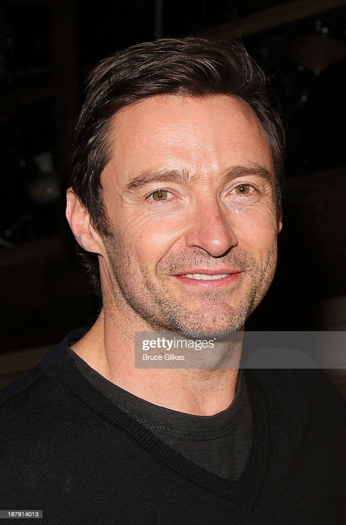 <a gi-track='captionPersonalityLinkClicked' href=/galleries/search?phrase=Hugh+Jackman&family=editorial&specificpeople=202499 ng-click='$event.stopPropagation()'>Hugh Jackman</a> poses backstage at 'Big Fish' on Broadway at The Neil Simon Theater on November 13, 2013 in New York City.