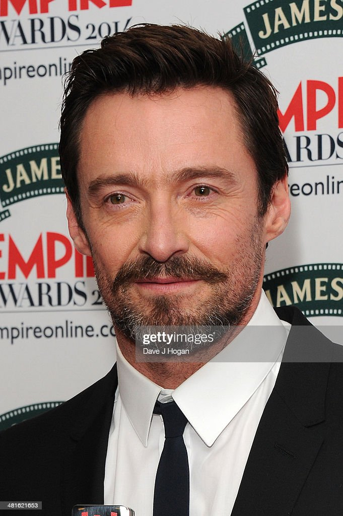 <a gi-track='captionPersonalityLinkClicked' href=/galleries/search?phrase=Hugh+Jackman&family=editorial&specificpeople=202499 ng-click='$event.stopPropagation()'>Hugh Jackman</a> poses in the press room at the Jameson Empire Film Awards 2014 at The Grosvenor House Hotel on March 30, 2014 in London, England.