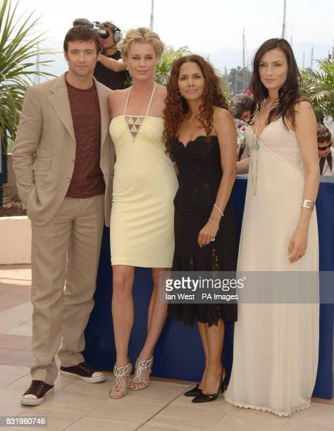 Hugh Jackman Rebecca Romijn Halle Berry and Famke Janssen attend a photocall for their new film 'XMEN 3 The Last Stand' at the Palais du Festival in...