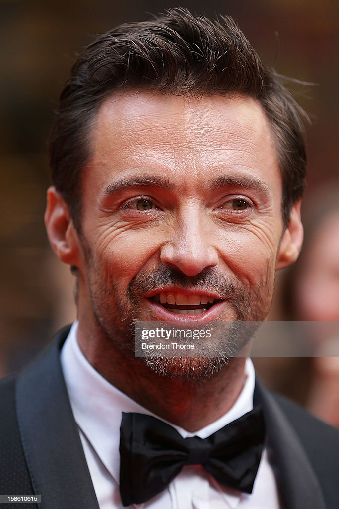 <a gi-track='captionPersonalityLinkClicked' href=/galleries/search?phrase=Hugh+Jackman&family=editorial&specificpeople=202499 ng-click='$event.stopPropagation()'>Hugh Jackman</a> walks the red carpet during the Australian premiere of 'Les Miserables' at the State Theatre on December 21, 2012 in Sydney, Australia.
