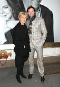 Hugh Jackman with wife DeborraLee Furness attends the opening night of 'God of Carnage' on Broadway at the Bernard Jacobs Theatre on March 22 2009 in...