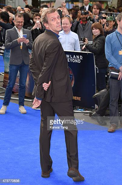 Hugh Laurie attends the European premiere of 'Tomorrowland A World Beyond' at Odeon Leicester Square on May 17 2015 in London England