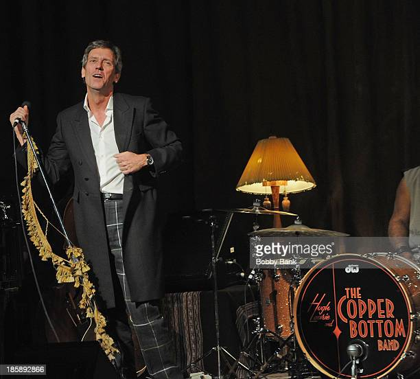 Hugh Laurie performs at Town Hall on October 25 2013 in New York City