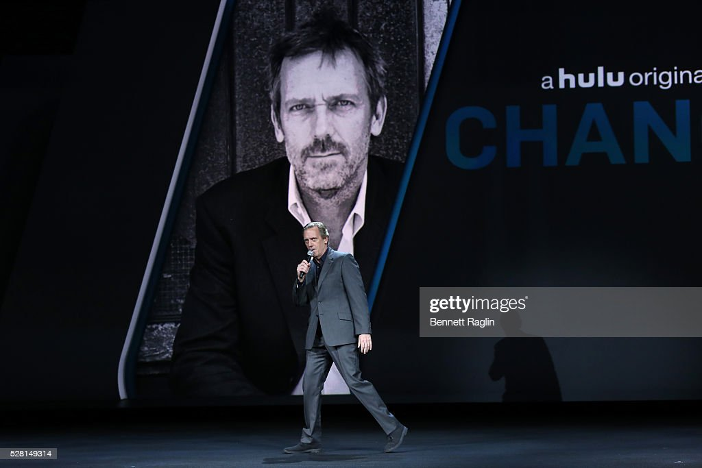 <a gi-track='captionPersonalityLinkClicked' href=/galleries/search?phrase=Hugh+Laurie&family=editorial&specificpeople=217383 ng-click='$event.stopPropagation()'>Hugh Laurie</a> speaks at the 2016 Hulu Upftont - Presentation on May 04, 2016 in New York, New York.