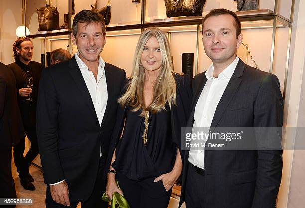 Hugh Morrison Amanda Wakeley and guest attend cocktail reception hosted by Pierre Denis CEO and Sandra Choi Creative Director of Jimmy Choo to...