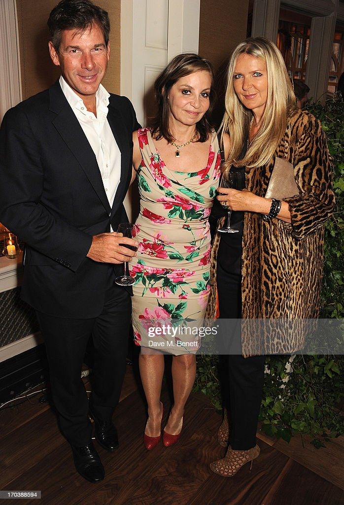 Hugh Morrison, guest and Amanda Wakeley attend the Dom Perignon Rose 2002 Dark Jewel launch with Stephen Webster at The Connaught Hotel on June 12, 2013 in London, England.