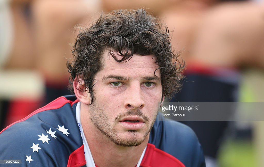 Hugh Pyle of the Rebels looks on during the Super Rugby trial match between the Waratahs and the Rebels at North Hobart Stadium on February 2, 2013 in Hobart, Australia.