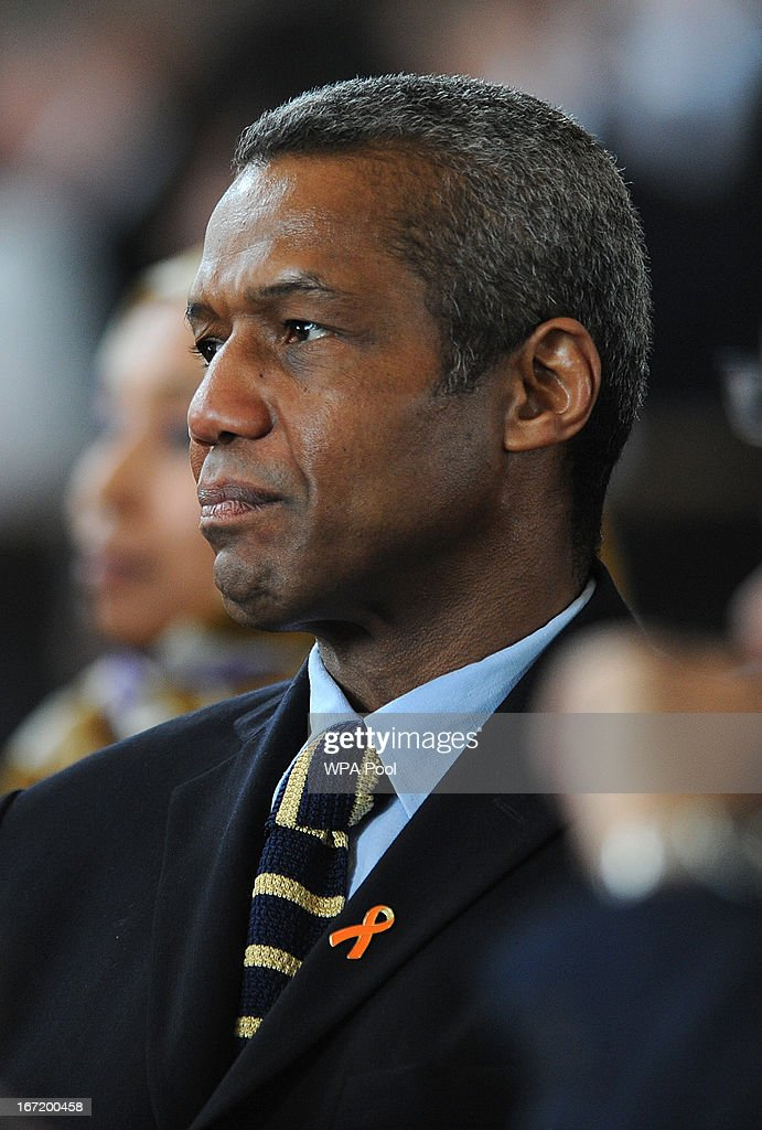 Hugh Quarshie attends a memorial service for Stephen Lawrence at St Martin-in-the-Fields Church on April 22, 2013 in London, England. Stephen Lawrence, a black A-level student was stabbed to death at a bus stop twenty years ago by a gang of white youths in a racially motivated attack in Eltham, south-east London, on April 22, 1993. Two men, Gary Dobson and David Norris were found guilty of his murder in January 2012.