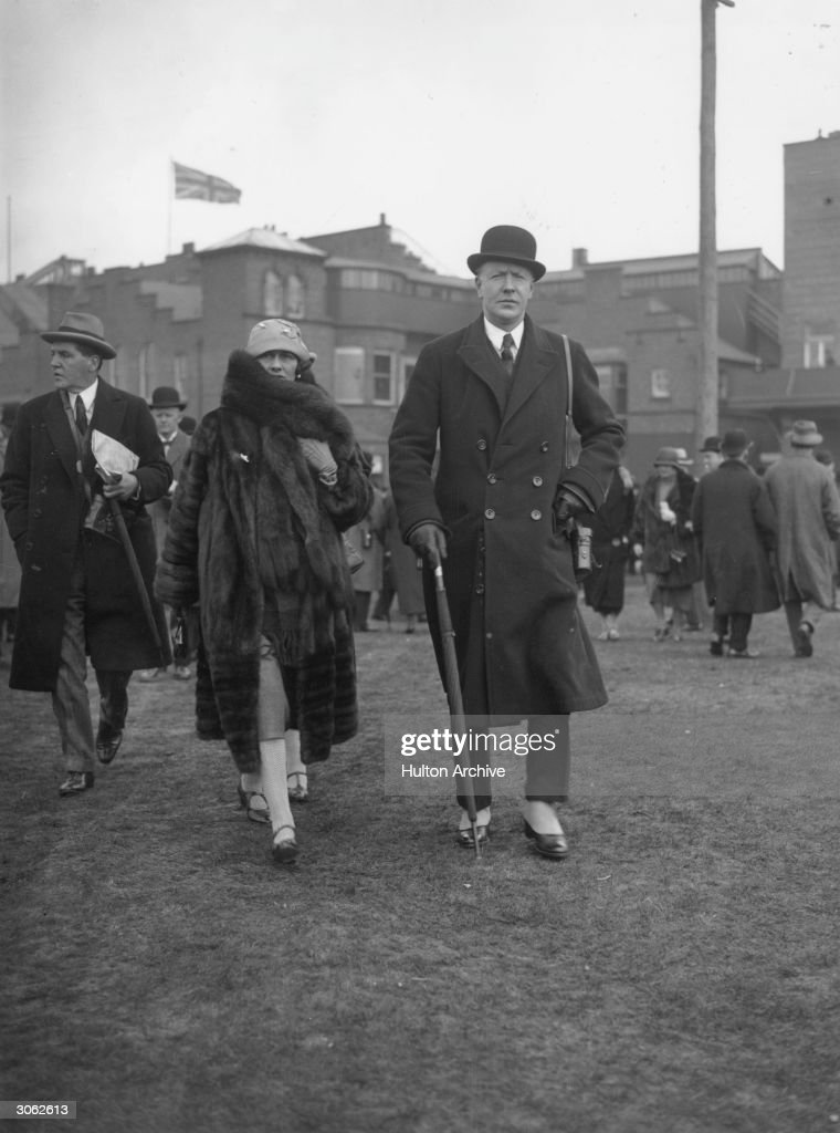 Hugh Richard Arthur Grosvenor 2nd Duke of Westminster and Marquess of Westminster with Frederick Smith and dress designer Coco Chanel at the Grand...