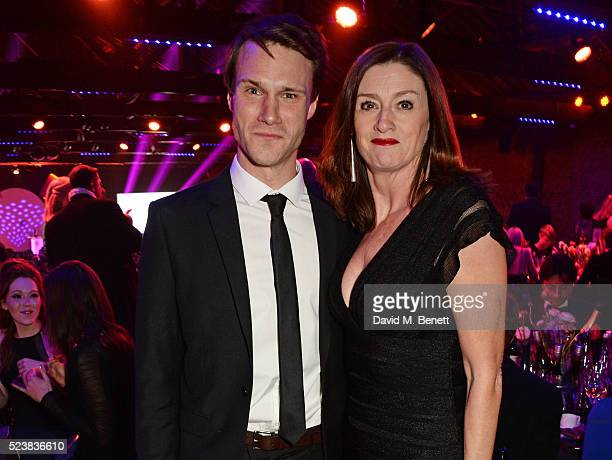 Hugh Skinner and Amanda Berry arrive for the British Academy Television Craft Awards at The Brewery on April 24 2016 in London England