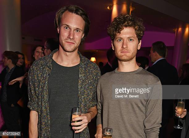 Hugh Skinner and Kyle Soller attend the press night after party for 'The Libertine' at the Haymarket Hotel on September 27 2016 in London England