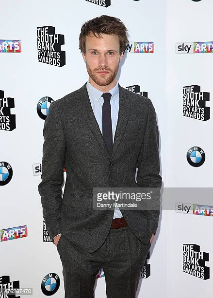 Hugh Skinner attend the South Bank Sky Arts Awards at The Savoy Hotel on June 7 2015 in London England