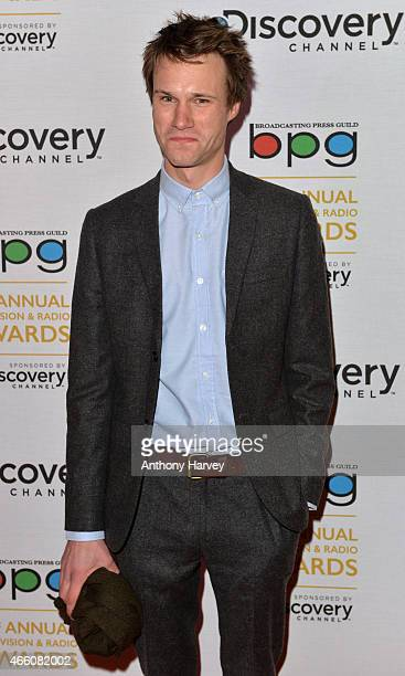 Hugh Skinner attends the Broadcasting Press Guild awards at Theatre Royal on March 13 2015 in London England