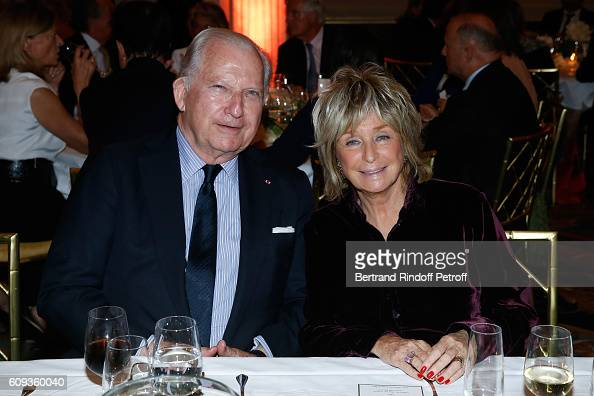 Hughes R Gall and Director of the movie Daniele Thompson attend the Charity Dinner to Benefit 'Claude Pompidou Foundation' following the 'Cezanne et...