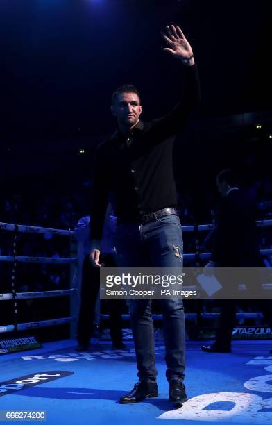 Hughie Fury at Manchester Arena PRESS ASSOCIATION Photo Picture date Saturday April 8 2017 See PA story BOXING Manchester Photo credit should read...