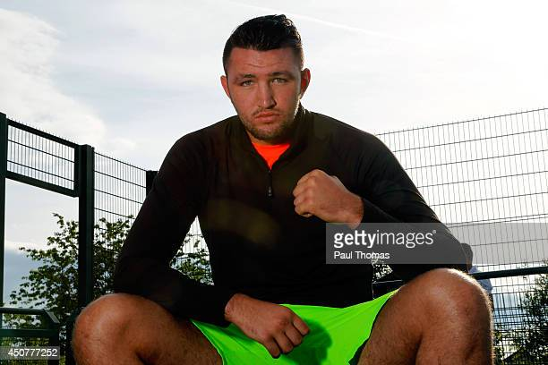 Hughie Fury poses for a photograph during the Tyson Fury Media Session at the Eddie Davies Football Academy on June 17 2014 in Bolton England