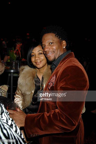 DL Hughley and guest during VH1 Big in '06 After Party at Sony Studios in Culver City California United States