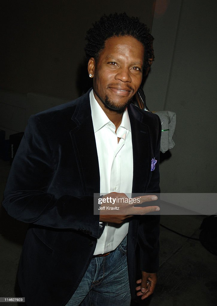 D L Hughley during HBO AEG Live's 'The Comedy Festival' Comic Relief 2006 Backstage at Caesars Palace in Las Vegas Nevada United States