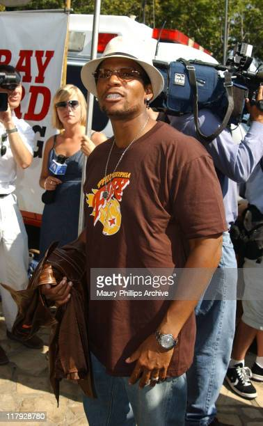 DL Hughley during Sugar Ray Leonard Presents World Class Boxing From The Playboy Mansion at The Playboy Mansion in Hombly Hills California United...