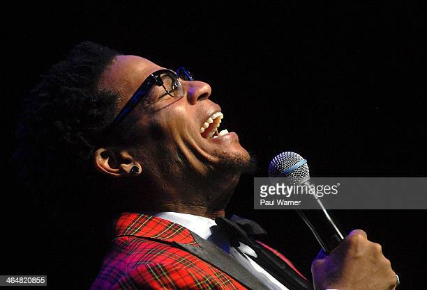 L Hughley performs at MotorCity Casino's Sound Board Theater on January 23 2014 in Detroit Michigan