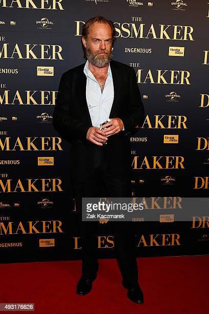 Hugi Weaving arrives ahead of the Australian premiere of 'The Dressmaker' on October 18 2015 in Melbourne Australia