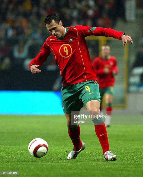 Hugo Almeida of Portugal during game againt Switzerland at the 2005 UEFA European Under21 Championship at Nacional in Portugal on November 17 1005
