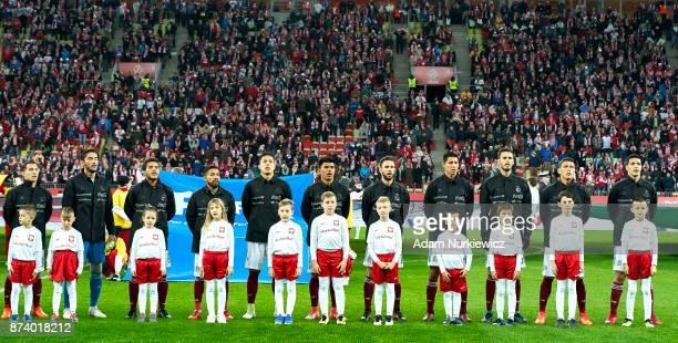 Hugo Ayala and Raul Jimenez and Carlos Salcedo and Diego Reyes and Hector Moreno and goalkeeper Jose Jesus Corona and Jesus Gallardo and Andres...