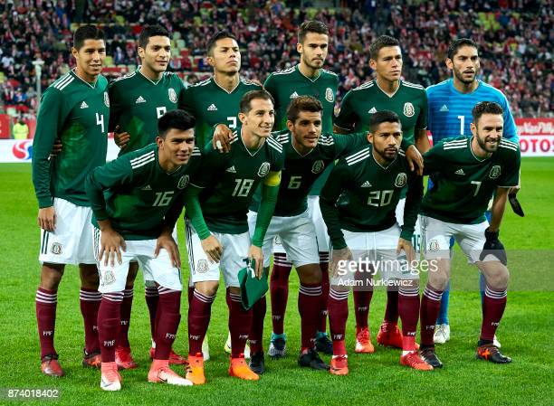 Hugo Ayala and Raul Jimenez and Carlos Salcedo and Diego Reyes and Hector Moreno and goalkeeper Jose Jesus Corona and Jesus Gallardo and Andres...