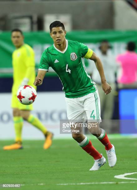 Hugo Ayala of Mexico controls the ball during the friendly match between Mexico and Ghana at NRG Stadium on June 28 2017 in Houston Texas