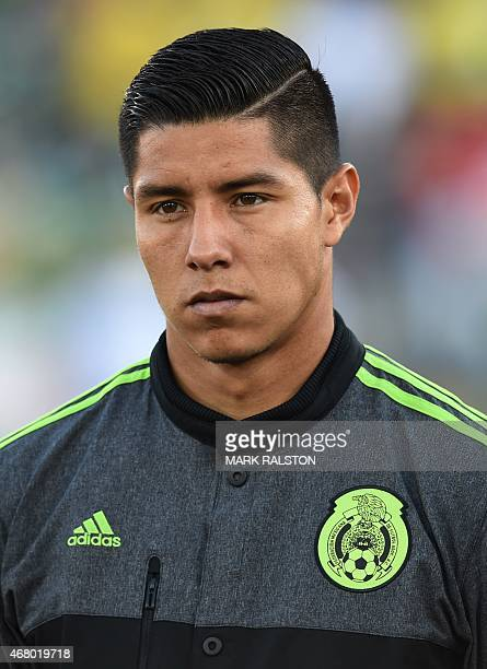 Hugo Ayala of Mexico during the friendly football match Mexico vs Ecuador at the LA Memorial Coliseum in Los Angeles on March 28 2015 Mexico went on...