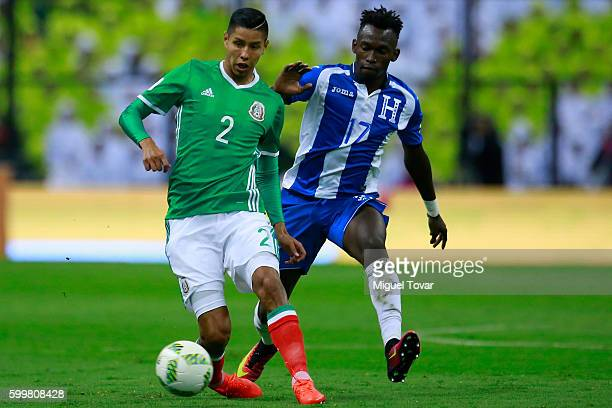 Hugo Ayala of Mexico fights for the ball with Alberth Elis of Honduras during a match between Mexico and Honduras as part of FIFA 2018 World Cup...