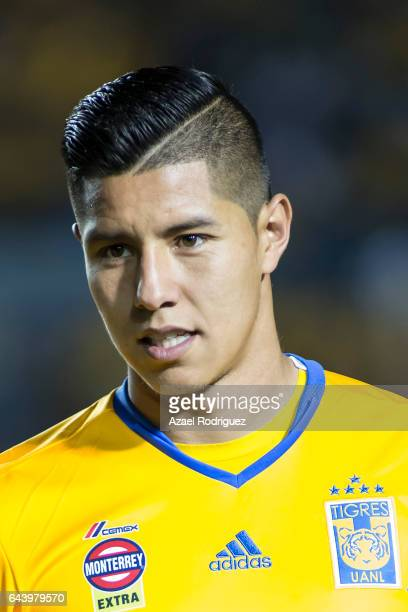 Hugo Ayala of Tigres pose prior the quarterfinals first leg match between Tigres UANL and Pumas UNAM as part of the CONCACAF Champions League 2017 at...