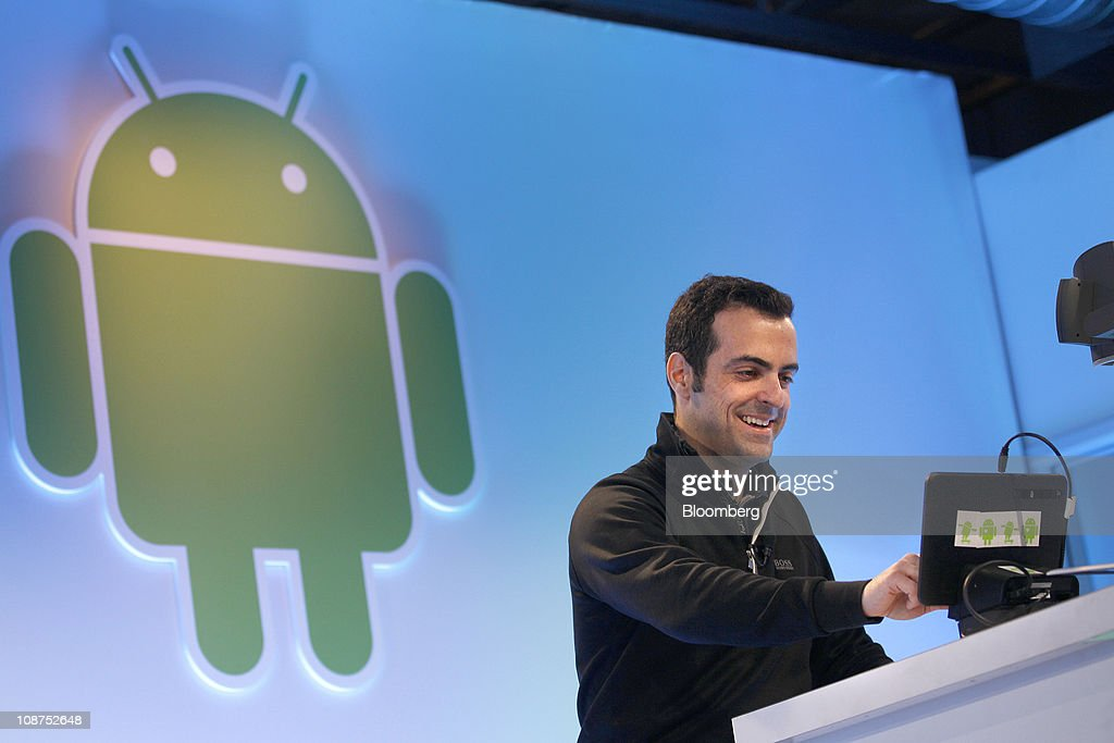Hugo Barra, product management director at Google Inc., talks about the Android 3.0 Honeycomb operating system during a news conference at company headquarters in Mountain View, California, U.S., on Wednesday, Feb. 2, 2011. Google Inc., owner of the world's most popular Internet search engine, opened a Web browser-based market for users of its Android smartphone software to buy applications as it battles Apple Inc. for market share. Photographer: Tony Avelar/Bloomberg via Getty Images