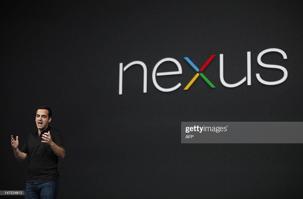 Hugo Barra, product management director of Android, introduces Google's low-cost computer tablet Nexus 7 during the keynote speech at Google's annual developer conference, Google I/O, on June 27, 2012 in San Francisco. AFP PHOTO/Kimihiro Hoshino