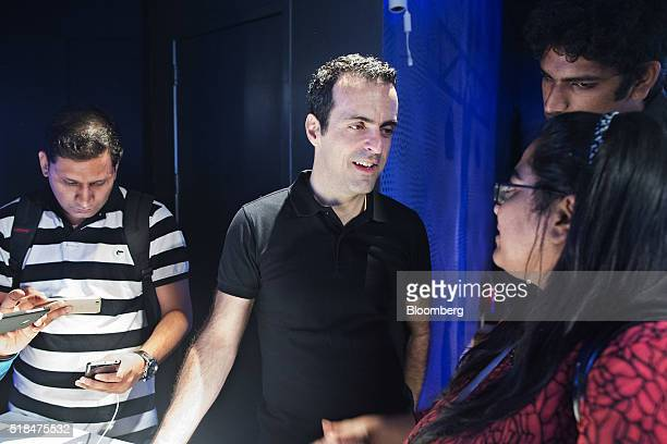 Hugo Barra vice president of global operations at Xiaomi Corp center speaks to members of the media during the launch of the company's Mi 5...