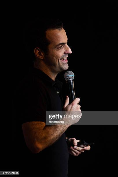 Hugo Barra vice president of global operations at Xiaomi Corp speaks during a news conference in Hong Kong China on Tuesday May 5 2015 Xiaomi's Mi 4i...