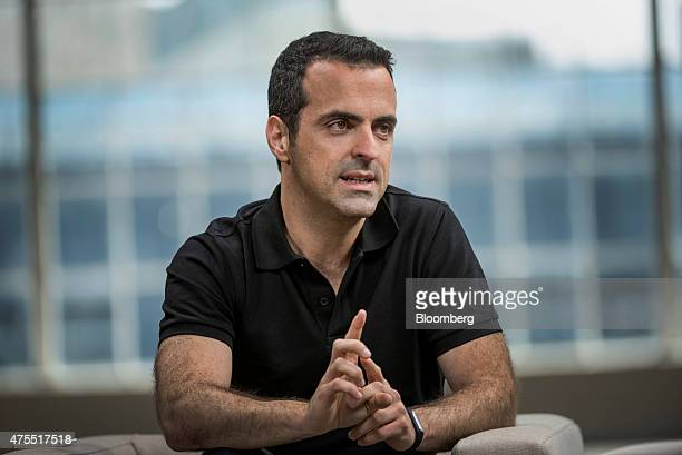 Hugo Barra vice president of global operations at Xiaomi Corp speaks during a Bloomberg Studio 10 interview in San Francisco California US on...