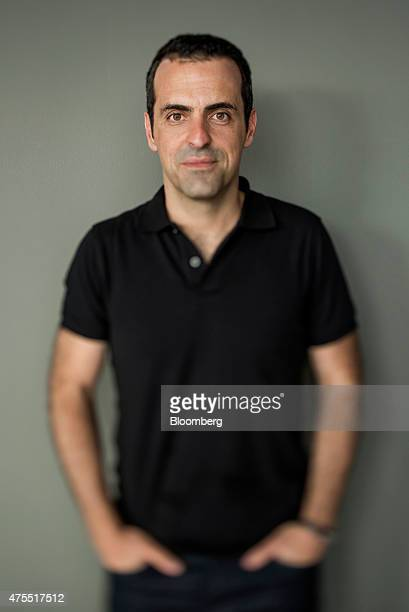 Hugo Barra vice president of global operations at Xiaomi Corp stands in this photo taken with a tiltshift lens after a Bloomberg Studio 10 interview...