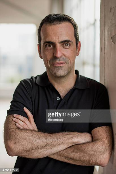 Hugo Barra vice president of global operations at Xiaomi Corp stands for a photograph after a Bloomberg Studio 10 interview in San Francisco...