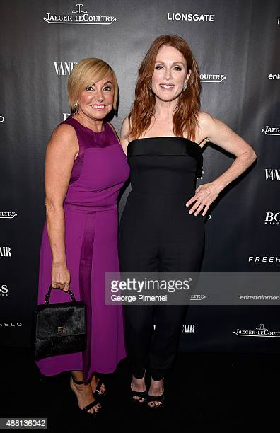 Hugo Boss Canada Managing Director Lanita Layton and actress Julianne Moore attend the Vanity Fair toast of 'Freeheld' at TIFF 2015 presented by Hugo...