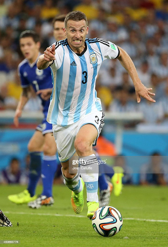 Hugo Campagnaro of Argentina in action during the 2014 FIFA World Cup Brazil Group F match between Argentina and Bosnia-Herzegovina at Maracana stadium on June 15, 2014 in Rio de Janeiro, Brazil.