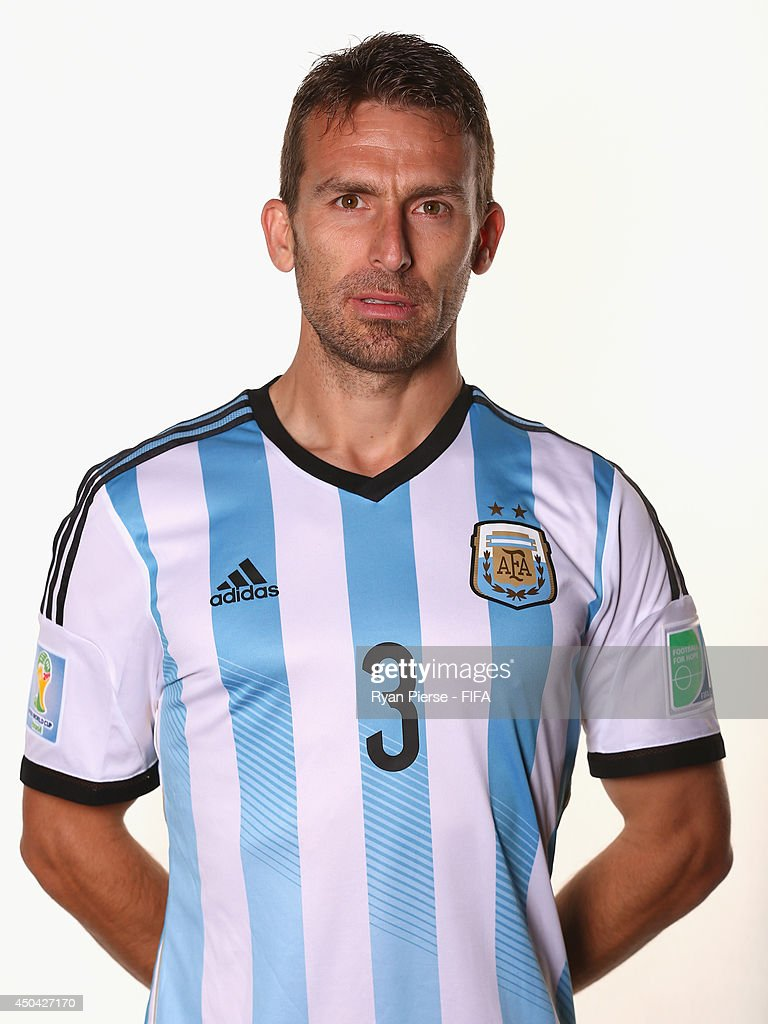 Hugo Campagnaro of Argentina poses during the official FIFA World Cup 2014 portrait session on June 10, 2014 in Belo Horizonte, Brazil.