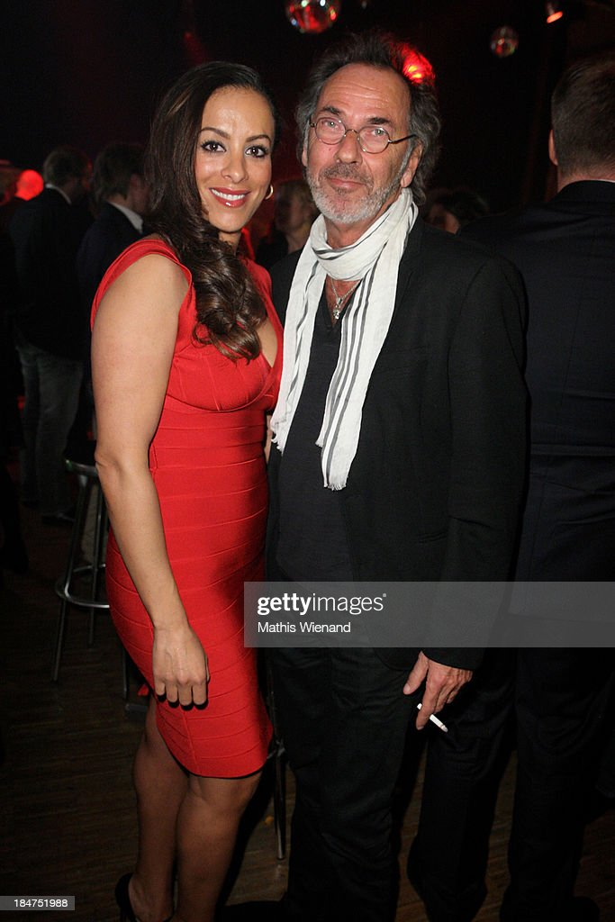 Hugo Egon Balder and his wife attend the 17th Annual of the German Comedy Awards at Coloneum on October 15, 2013 in Cologne, Germany.