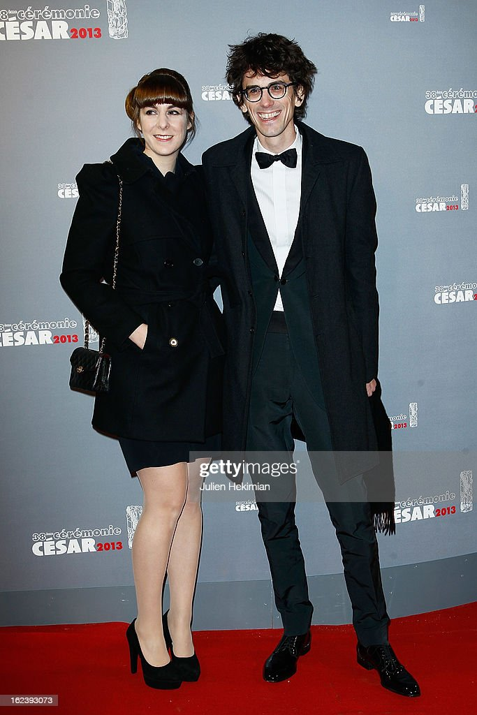 Hugo Gelin and his wife attend the Cesar Film Awards 2013 at Theatre du Chatelet on February 22, 2013 in Paris, France.