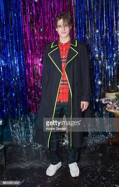 Hugo Hodgson attends the Burberry x Cara Delevingne Christmas Party on December 2 2017 in London England