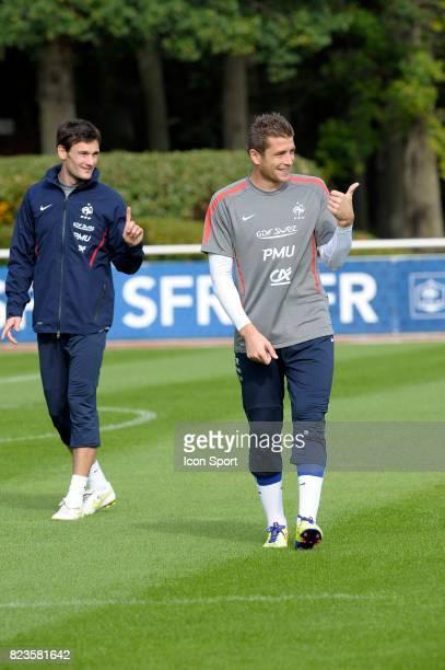 Hugo LLORIS / Cedric CARRASSO Entrainement Equipe de France Football Clairefontaine